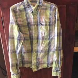Abercrombie Boys size XL Plaid dress shirt